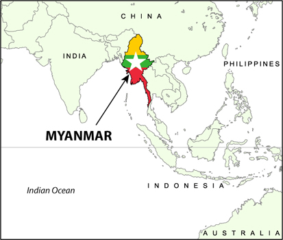 The Sagaing Fault Myanmar Burma Introduction